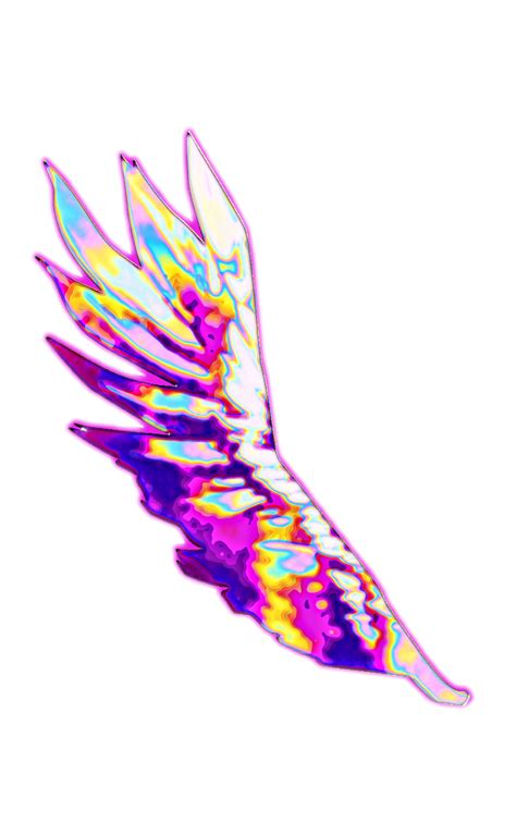 wings holographic aesthetic background color dream emoj