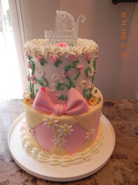 Tabby's Cakes and Goodies: Baby Girl Baby Shower Cake and