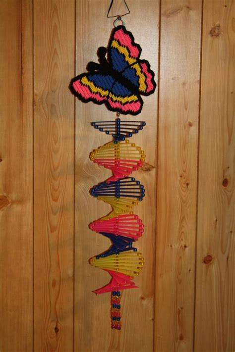 Plastic Canvas Butterfly Wind Spinner
