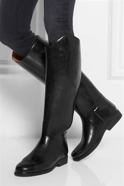 Le Chameau Alezan Leather-Lined Rubber Riding Boots in