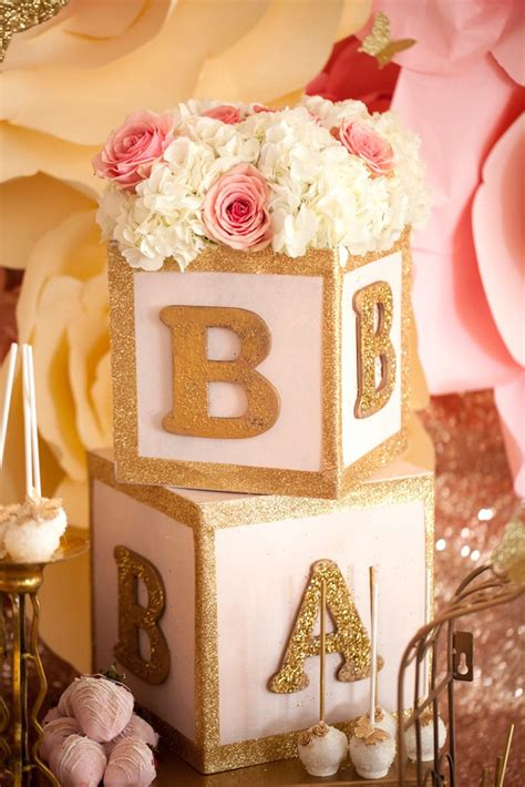 Kara's Party Ideas Pink & Gold Butterfly Baby Shower