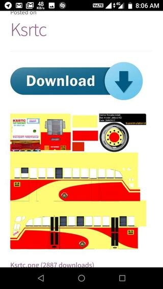 Bus Simulator Indonesia Ksrtc Bus Livery Download - livery