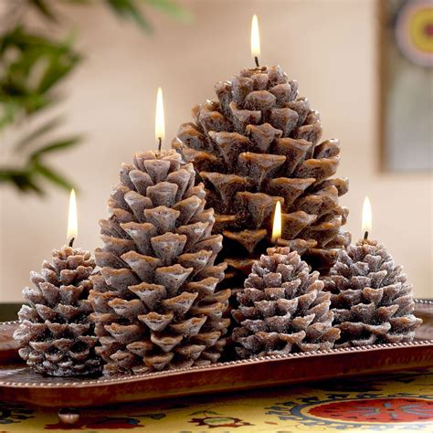 Pine Cone Candles - The Green Head