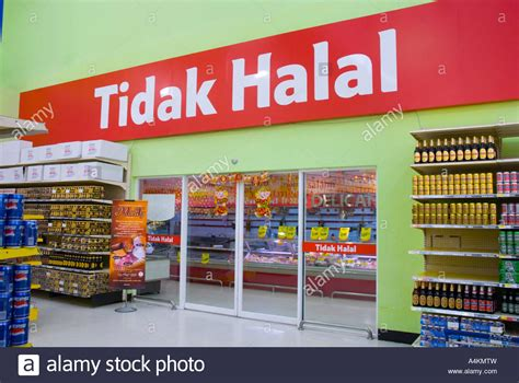 The non halal section of a Tesco supermarket in Malaysia