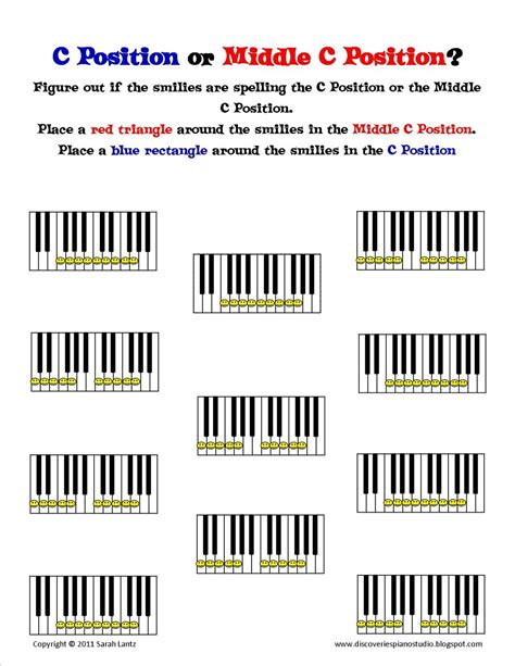 Discoveries Piano Studio: New Worksheets to Help Learn C