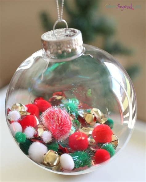 How To Fill Clear Glass Ornaments: 25 Ideas - Shelterness