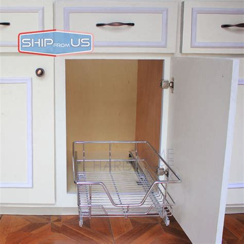 """SHIP FROM US 12"""" Width Kitchen Pull Out Basket Wire"""