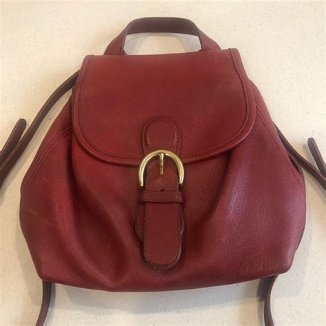 Coach Bags | Coach Red Backpack Vintage 9s | Poshmark