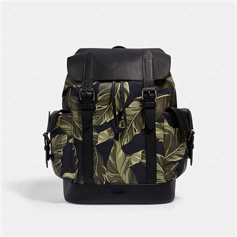 COACH® Outlet | HUDSON BACKPACK WITH BANANA LEAVES PRINT