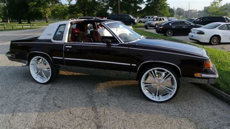 1987 Olds Cutlass Supreme w/T-Tops on 24's HD - YouTube