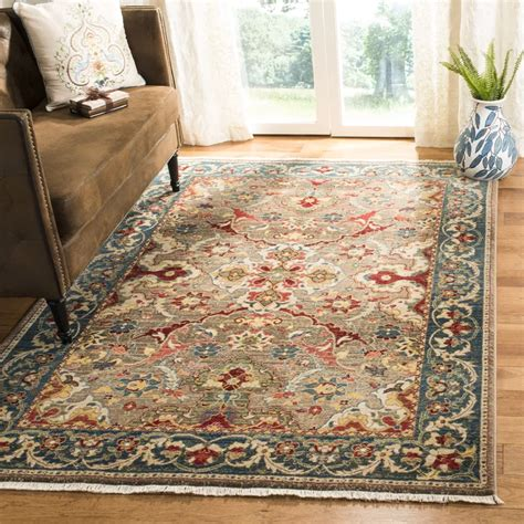 Bisen Taupe/Blue Area Rug in 2020   Rugs, Area rugs, Blue