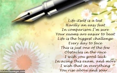 Inspirational Exam Poems: Best Wishes and Good Luck – Sms