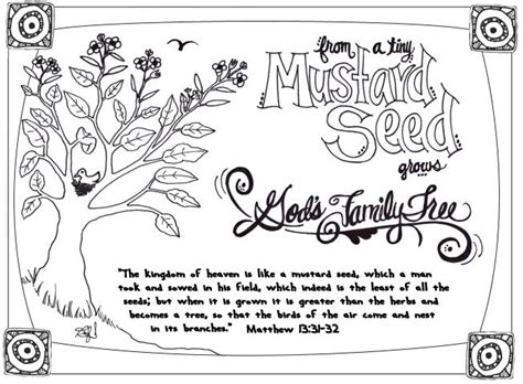 Parable of the Mustard Seed   Mustard seed parable, Bible