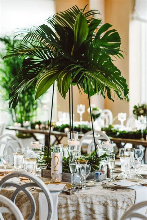 50 Green Tropical Leaves Wedding Ideas – Page 5 – Hi Miss Puff