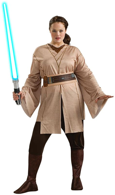 Star Wars Female Jedi Adult Plus Costume - PartyBell